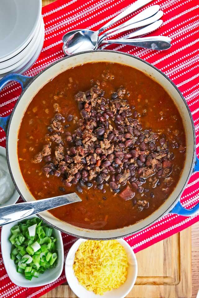 Turkey Black Bean Chili © Jeanette's Healthy Living