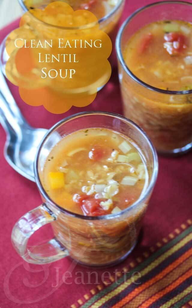 Clean Eating Lentil Soup © Jeanette's Healthy Living