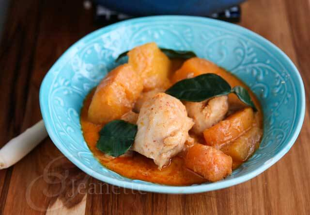 Thai Red Curry Chicken with Winter Squash Recipe