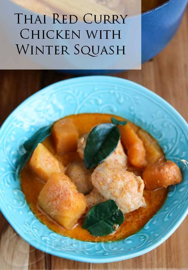 Thai Red Curry Chicken with Winter Squash © Jeanette's Healthy Living