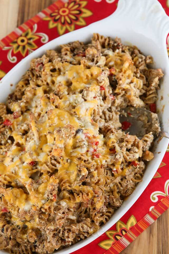 Triple Cheese Chicken Pasta Bake Recipe - Jeanette's Healthy Living