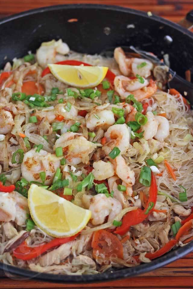 Long Life Fertility Noodles With Happy Shrimp Recipes — Dishmaps