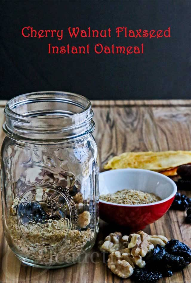 DIY Homemade Cherry Walnut Flaxseed Oatmeal