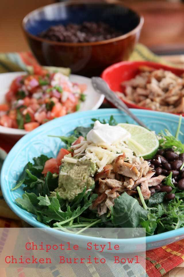 Chipotle Style Chicken Burrito Bowl Recipe