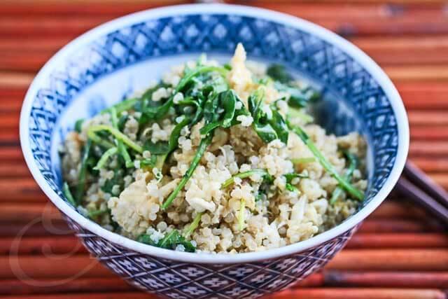"15 Minute Breakfast Kale Quinoa ""Fried Rice"" Recipe"