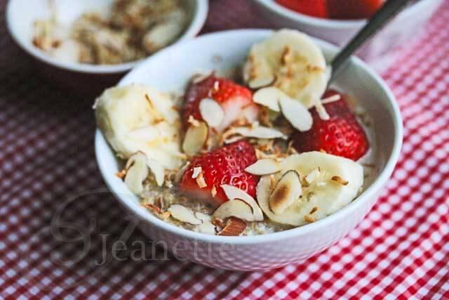 Breakfast Coconut Milk Quinoa with Fresh Fruit Recipe {Video}