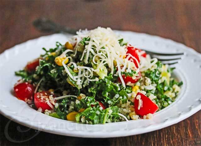 Quinoa Kale Tomato Corn Salad Recipe {Video}