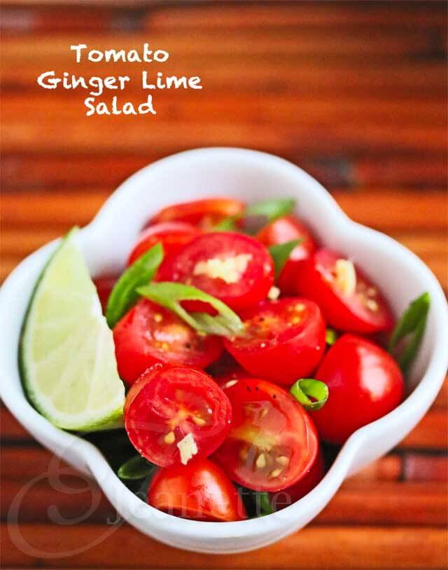 Asian Tomato Ginger Lime Salad  © Jeanette's Healthy Living
