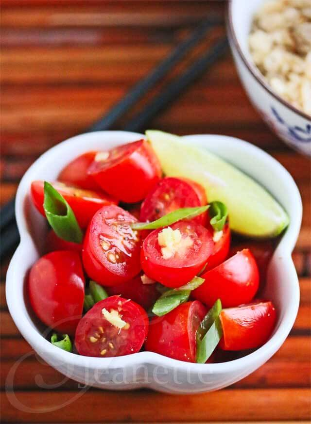 Tomato Ginger Lime Salad © Jeanette's Healthy Living