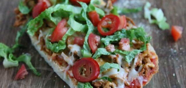 Easy Turkey Taco Pizza Recipe