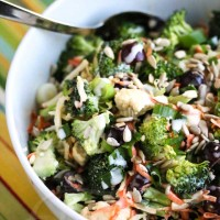 Broccoli Cauliflower Carrot Salad