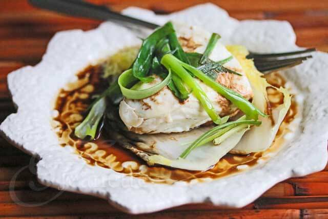 Chinese Steamed Fish with Soy Sesame Sauce Recipe {Video}