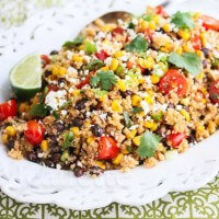 Mexican Corn Quinoa Salad © Jeanette's Healthy Living