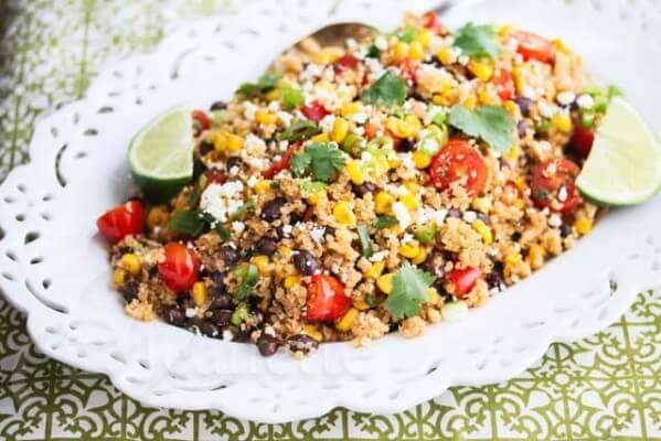 Mexican Corn Quinoa Salad Recipe - Jeanette's Healthy Living