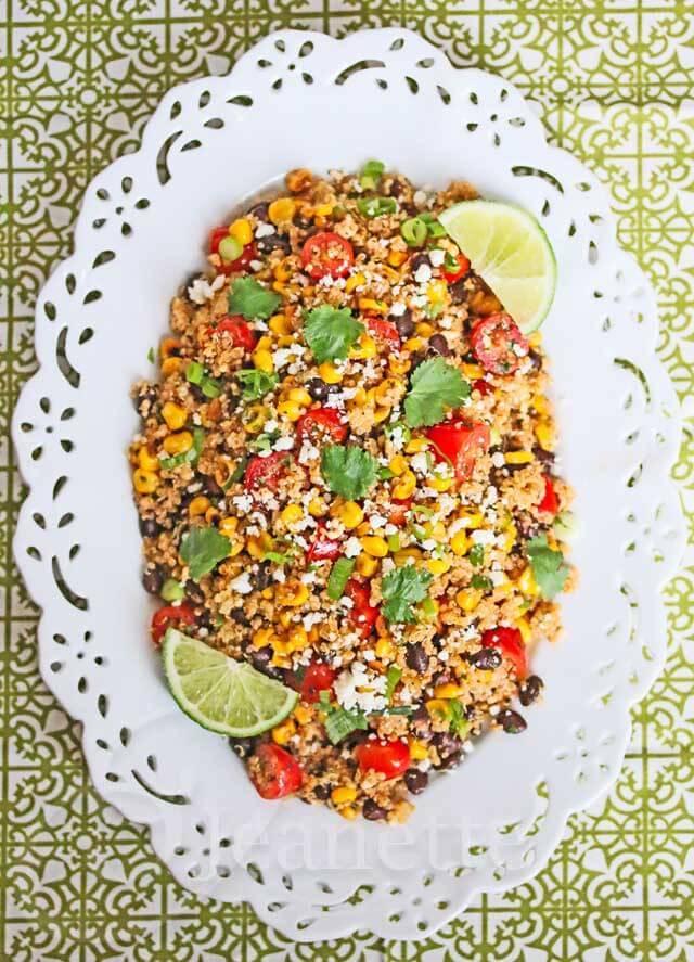 Mexican Corn Quinoa Salad © Jeanette's Healthy Living