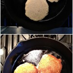 Pancakes Made in Cast Iron Pan