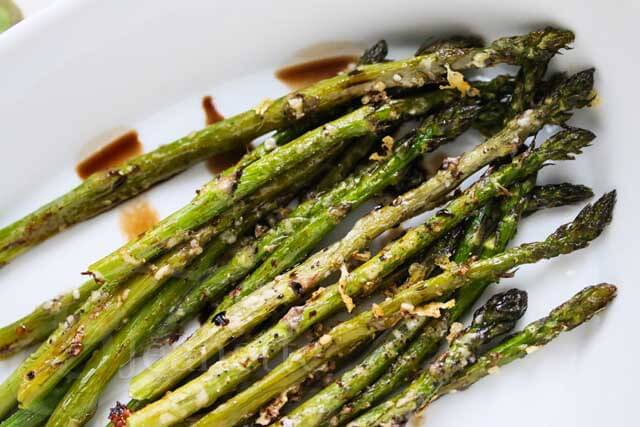 Baked Asparagus With Parmesan And Balsamic Vinegar Recipe — Dishmaps