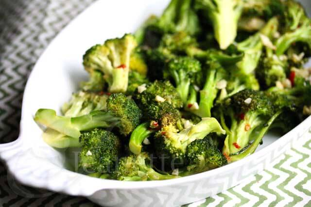 Roasted Chili Garlic Broccoli Recipe