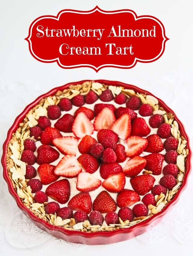 Strawberry Almond Cream Tart © Jeanette's Healthy Living
