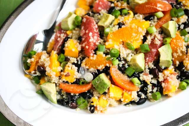 Quinoa Citrus Mango Avocado Black Bean Salad Recipe