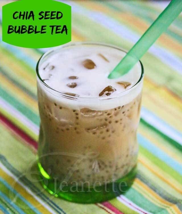 Chocolate Rooibos Chia Seed Bubble Tea © Jeanette's Healthy Living