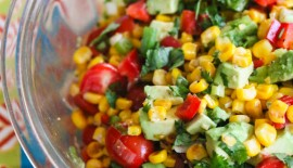 Corn Avocado Tomato Salad © Jeanette's Healthy Living