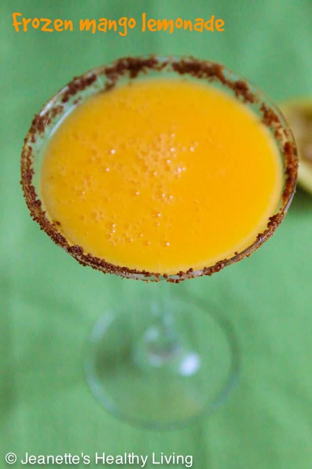 Frozen Mango Lemonade Mocktail © Jeanette's Healthy Living