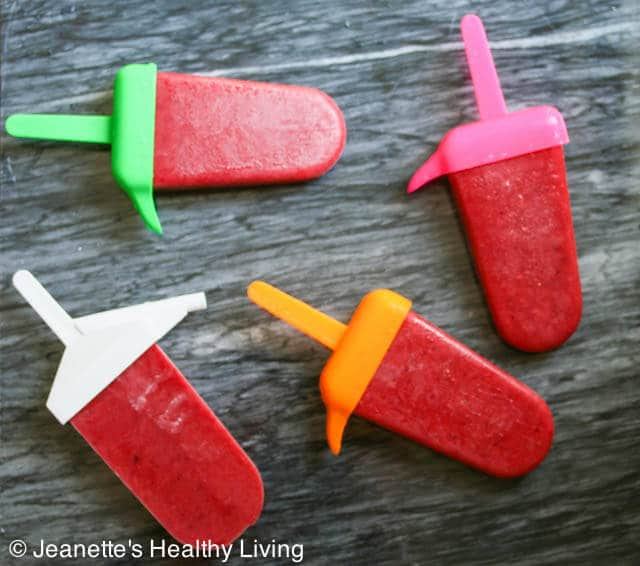 Healthy Fruit Punch Popsicles © Jeanette's Healthy Living