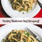 Healthy Mushroom Beef Stroganoff © Jeanette's Healthy Living