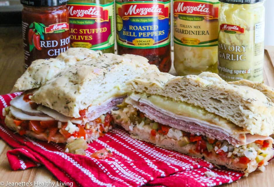 Muffaletta on gluten-free Foccacia