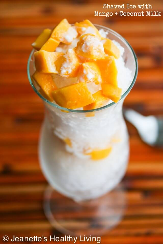Shaved Hawaiian Ice with Mango and Coconut Milk © Jeanette's Healthy Living
