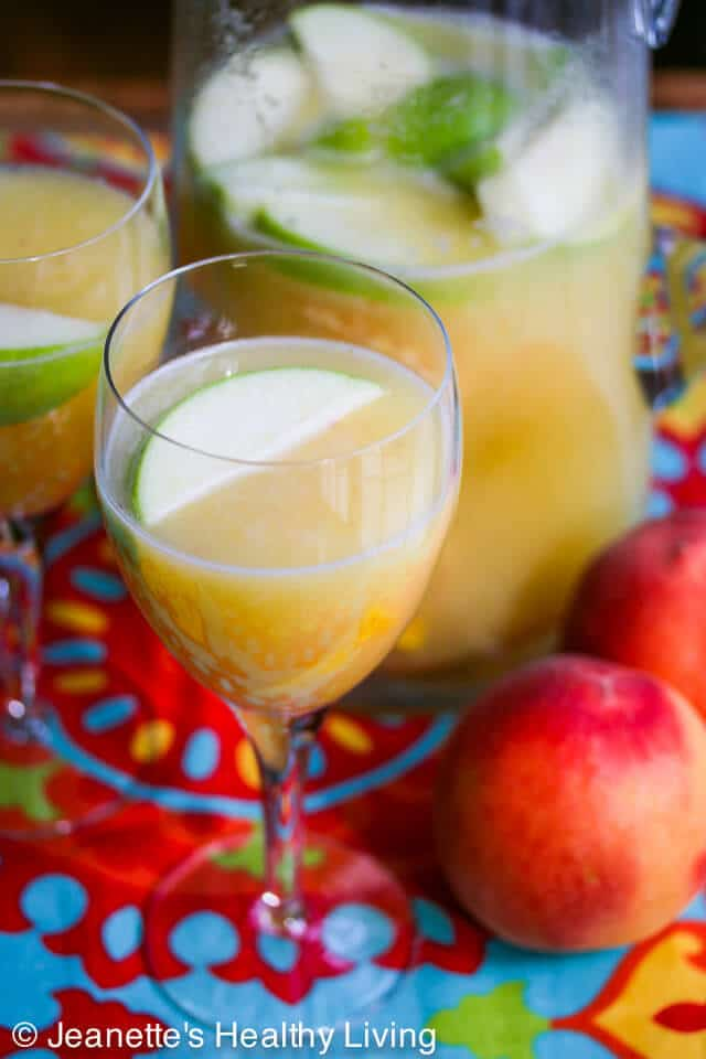 White Peach Sangria is perfect for summer entertaining when you're ...