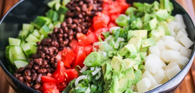 Mexican Chopped Salad with Creamy Cilantro Lime Dressing Recipe {Progressive Eats}