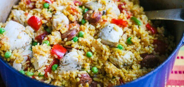One Pot Chicken and Chorizo Paella Recipe