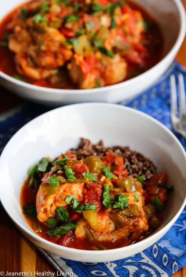 Slow Cooker Creole Chicken © Jeanette's Healthy Living