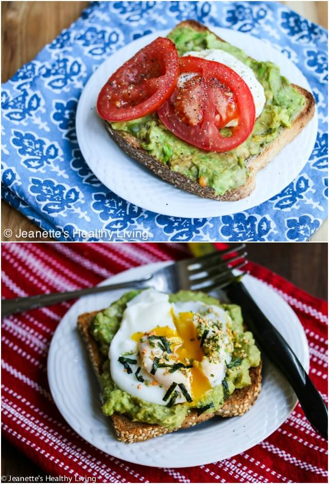Smashed Avocado Toast Two Ways © Jeanette's Healthy Living