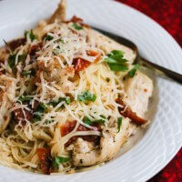 20 Minute Sun Dried Tomato Chicken Pasta © Jeanette's Healthy Living