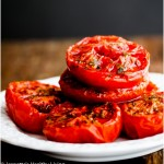 Slow Roasted Summer Tomatoes © Jeanette's Healthy Living