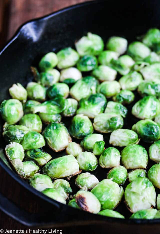 found the sprouts didn't brown as much as I wanted in the oven, so ...