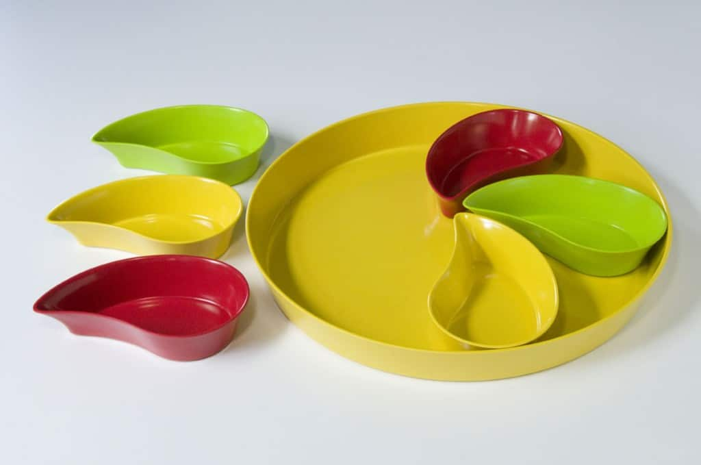 Yumi Nature+™ Tray with Teardrop Bowls