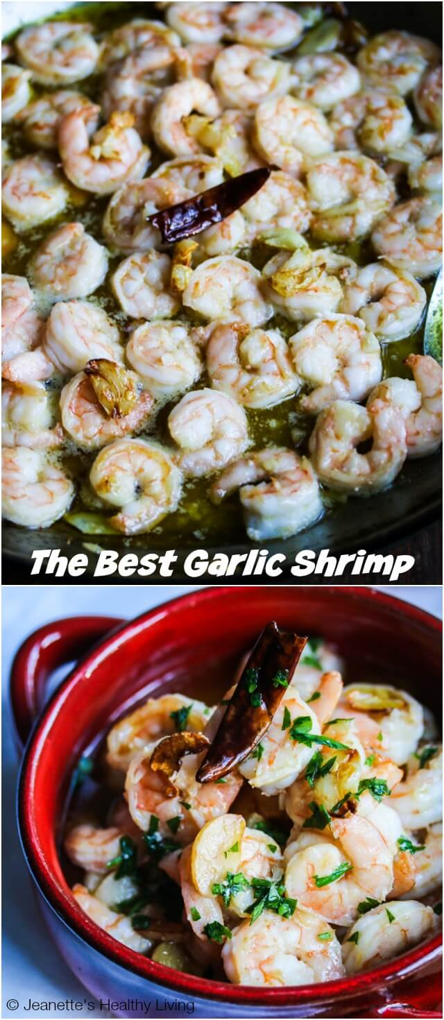 The Best Garlic Shrimp - this is the best garlic shrimp I have ever made. The shrimp is marinated with garlic and then cooked in garlic oil