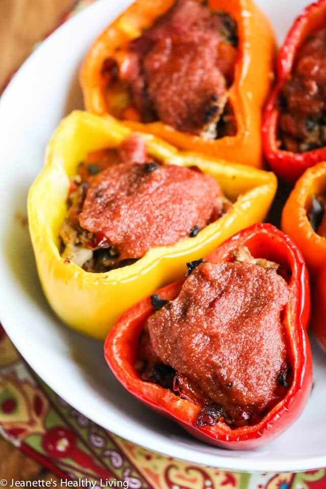 Clean Eating Stuffed Peppers - these can be frozen and reheated for an easy, healthy dinner