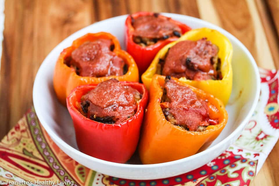 Clean Eating Stuffed Peppers Recipe {Clean Eating Freezer Meals Cookbook Giveaway}