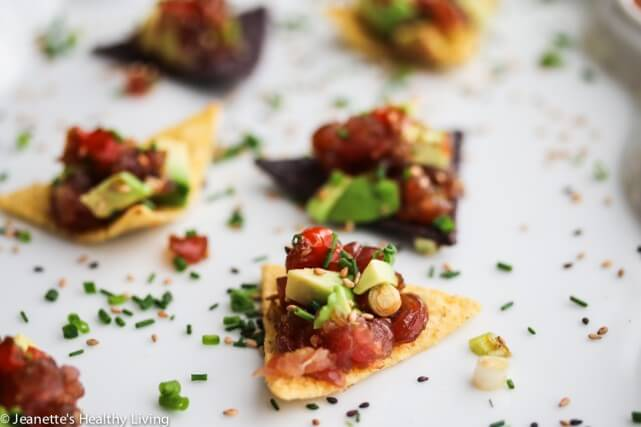 Spicy Ahi Tuna Avocado Tartare Bites