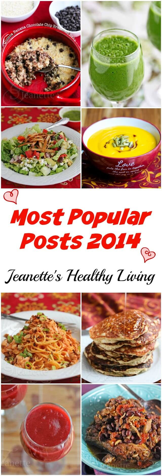 Most Popular Posts 2014  - these are the most sought after posts by readers on Jeanette's Healthy Living