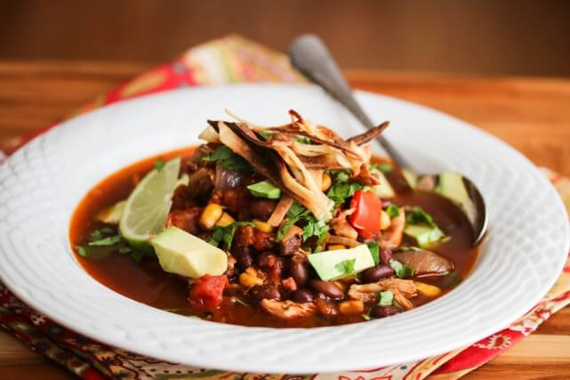 Slow Cooker Chicken Chili Tortilla Soup Recipe