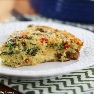 Crustless Sausage Spinach Mushroom Quiche Recipe