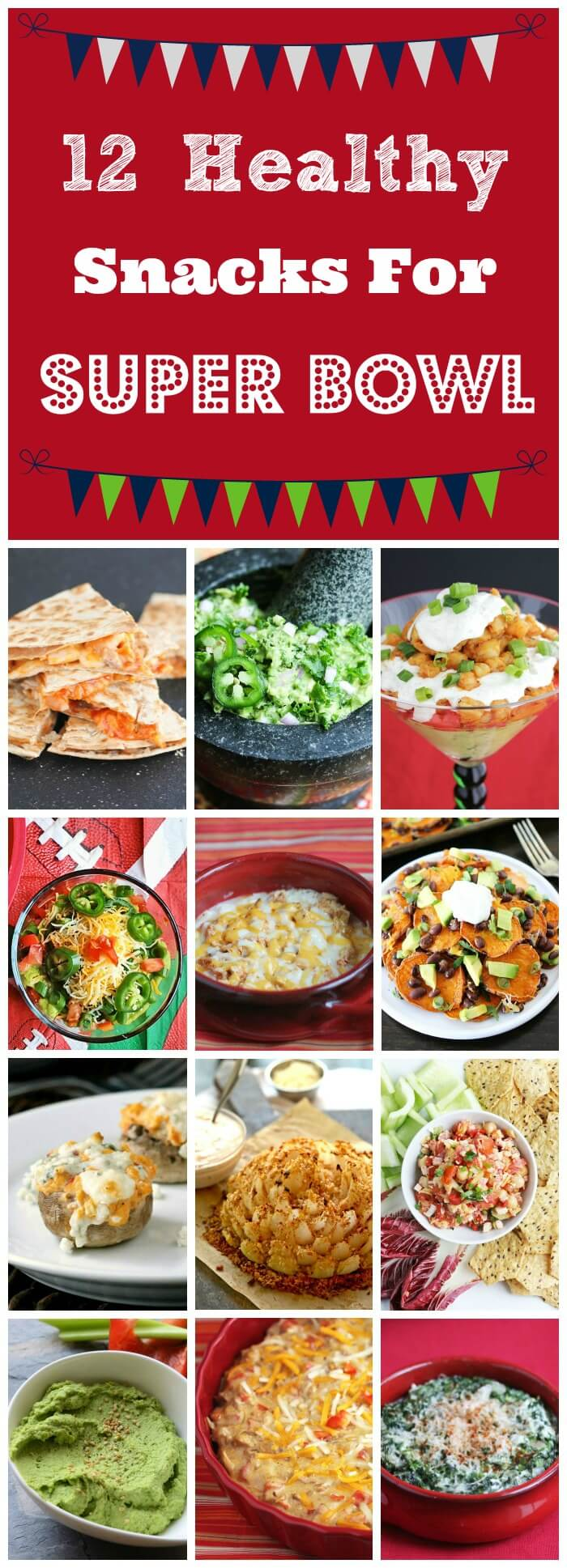 Healthy Snacks for Super Bowl - these are all Game Day favorites, lightened up so you can enjoy yourself at the party!