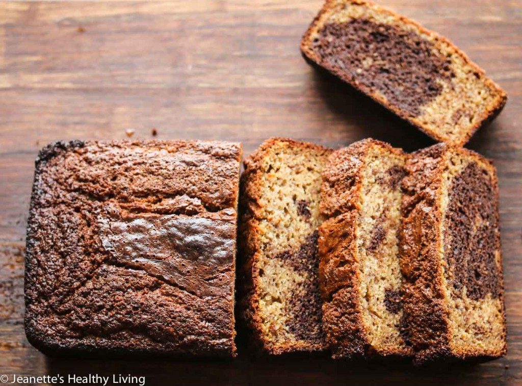 Gluten Free Marbled Banana Chocolate Quick Bread - made with oat flour ...