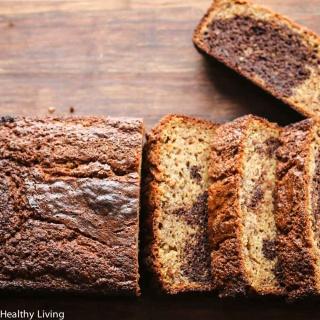 Gluten-Free Marbled Chocolate Banana Quick Bread Recipe